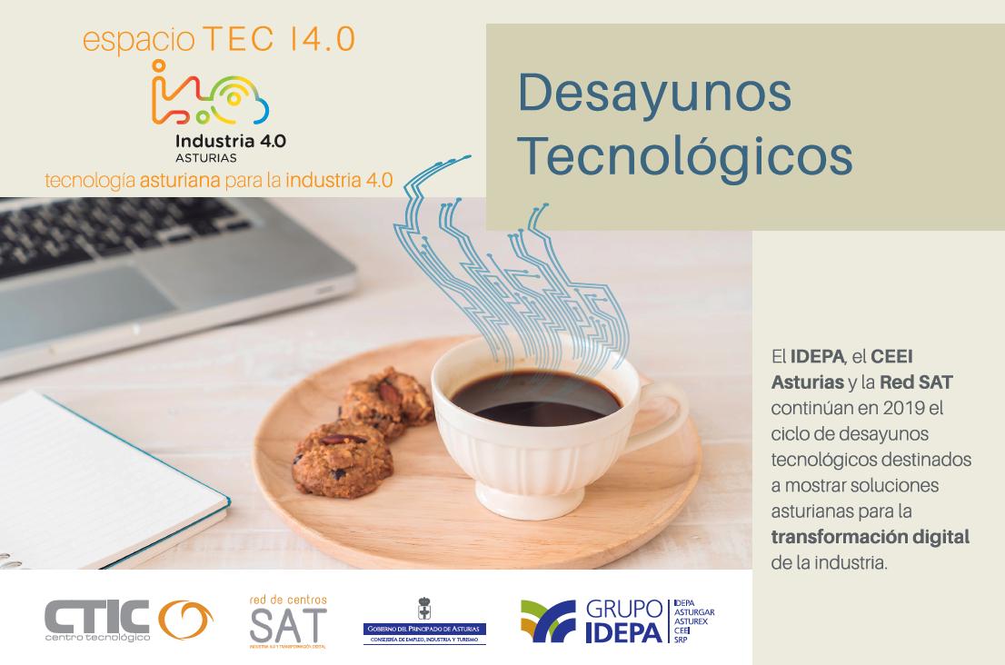 Imagen noticia:  Cuarto desayuno tecnológico de la II edición del ciclo Espacio TEC I4.0: Gemelos Digitales